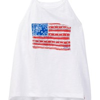 Lucky Brand | Flag & Bandana Racerback Tank (Little Girls) | Nordstrom Rack