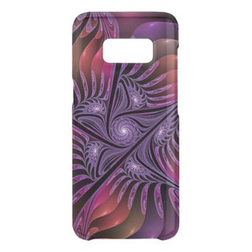Colorful Fantasy Abstract Modern Purple Fractal Get Uncommon Samsung Galaxy S8 Case