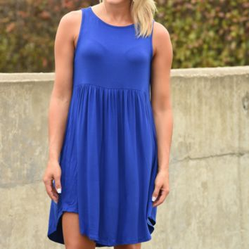 Almost There Dress - Royal