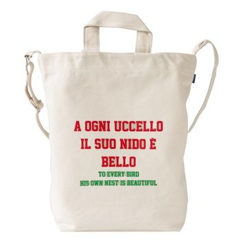 A Ogni Ucello Duck Bag