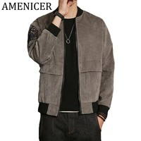 Mens Patchwork Military Jacket Embroidery New Polyester 90% Nylon 7% Spandex 3% Man Bomber Jackets Letters Printed Striped Coat