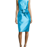 Sleeveless Cocktail Dress with Ruffled