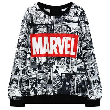 Marvel Moletom Hoodie Sweatshirt Tracksuit Harajuku Black female Sweatwear for Women EXO Kpop BTS Adventure Time Ladies Hoodies