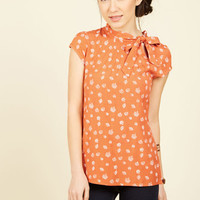 Up, Up, and Amaze Top in Leaves | Mod Retro Vintage Short Sleeve Shirts | ModCloth.com