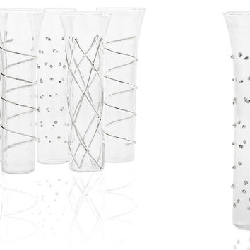Asst of 6 Champagne Flutes, Silver, Champagne Flutes