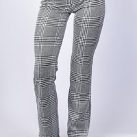 Penny Plaid Flare Trouser