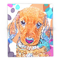 Society6 Watercolors Dachshund Weiner Dog Doxie Everywh Blanket