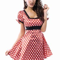 Pink Queen Cute Minnie Mouse Girl/Women Costume Fancy Cosplay Dress