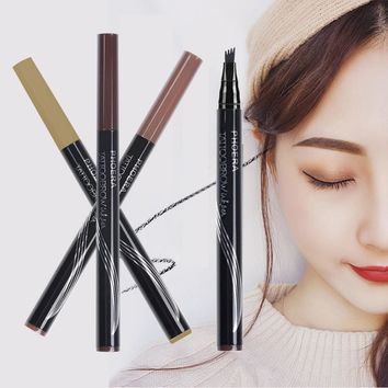 Automatic Matte Eyebrow Waterproof Eyebrow Tattoo With Brush Long-lasting Cosmetic Pen Pencil