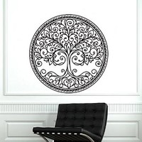 Wall Decals Tree Decal Vinyl Mandala Stickers Nursery Bedroom Window Kithen Room Home Decor Nature Art Murals Ah184