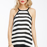 Striped Chiffon Top