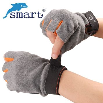 Smart Winter Fishing Goves 3 Fingers Cut Anti-Slip Half Finger Riding Glove Waterproof Warm 1Pair Durable Gloves Outdoor Fishing