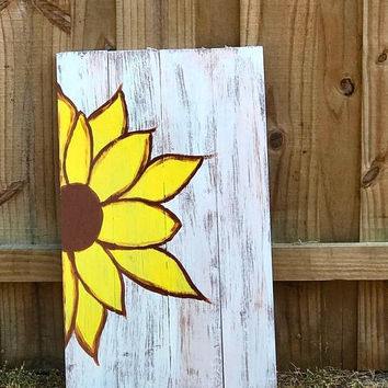 Sunflower Wall Decor - Sister Gifts -  Rustic Wood Sign - Best Friend Gift - Gift for Her - Floral Wall Decor - Florida Home Decor