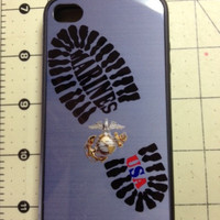 Awesome looking Bootprint custom made United States Marine Corps Iphone case