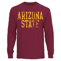 Arizona State Sun Devils Straight Out Long Sleeve T-Shirt – Maroon