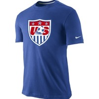 Nike Men's USA Soccer Core Crest Blue T-Shirt