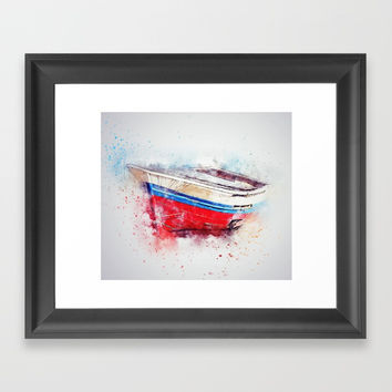 boat Framed Art Print by abeerhassan
