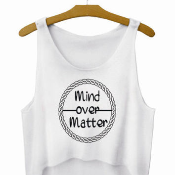 Mind Over Matter Letters Crop Top Summer Style Tank Top Women's Top