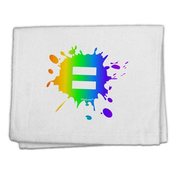 "Equal Rainbow Paint Splatter 11""x18"" Dish Fingertip Towel by TooLoud"
