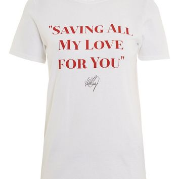 'Saving All My Love' Slogan T-Shirt by And Finally - T-Shirts - Clothing
