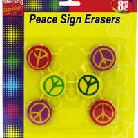 peace sign erasers Case of 24