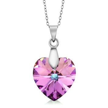 Nirano Collection Vitrail LIght Heart Pendant Created with Swarovski® Crystals
