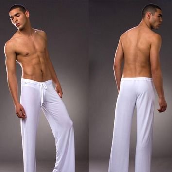 High Quality! Brand Pants Men's Pyjama Trousers Dance Harem Sweatpants Sleep Bloomers Casual Trousers 4 colors