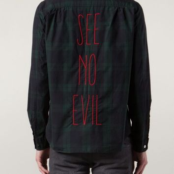 UNDERCOVER - Plaid 'See No Evil' Shirt - 04402 BRN CHECK - H. Lorenzo