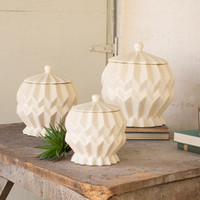 Set of 3 Canisters- Buttermilk