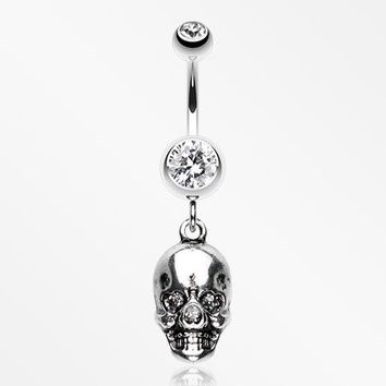 Skull Amour Belly Button Ring