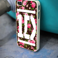 1D One Direction Floral iPhone 4 5 5c 6 Plus Case, Samsung Galaxy S3 S4 S5 Note 3 4 Case, iPod 4 5 Case, HtC One M7 M8 and Nexus Case