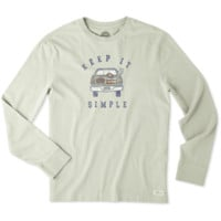 Men's Simple Tailgate Long Sleeve Crusher Tee