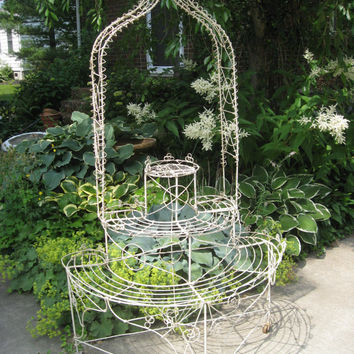 Victorian Wire Work Plant Stand  Antique Plant Stand Orchid Stand