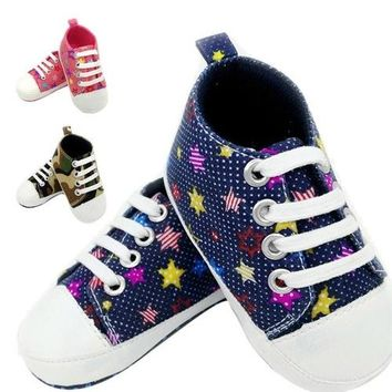 Baby Girls Boys Hightop Shoes Sneaker