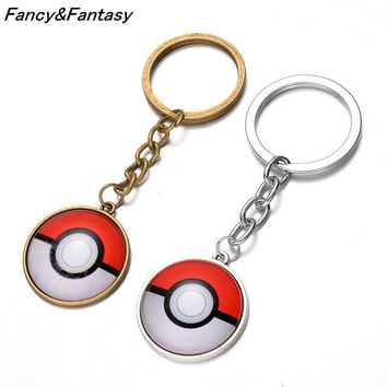 Fancy&Fantasy pokemon Pendant Key Chain Anime Catoon Zinc Alloy Metal Keychain Pokemon go hot Pendent Gift Accessories ZDPM
