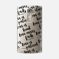 Love is patient, love is kind (LG) LG G4 case by Noonday Design | Casetify