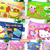 Sanrio Pouch Change Coin Purse ID Credit Card Holder Pass Case Zipper Bag Clutch
