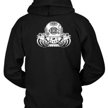 DCCKL83 Youth Kids Scuba Diving Hoodie Two Sided
