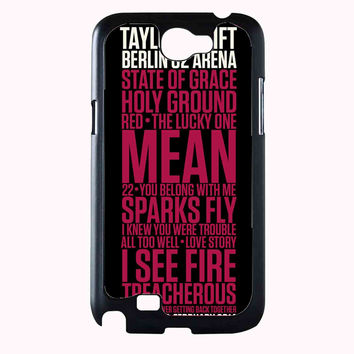 Taylor Swift Red poster FOR SAMSUNG GALAXY NOTE 2 CASE**AP*