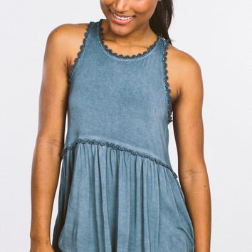 Babydoll Tank - Midnight Blue