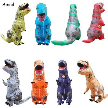 Cool Inflatable Dinosaur Costumes Costume Halloween Kids Adult T-Rex Fancy Dress Ride Animal Jumpsuit Themed Cosplay Costume AdultAT_93_12
