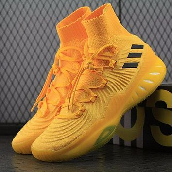 Adidas Crazy Explosive 2017 PK PrimeKnit Boost Mid Yellow Basketball Shoes BY4472 Sneaker