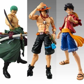 Anime One Piece Zoro Figure SHF PVC 18CM One Piece Action Figures S.H.Figuarts Anime Toys Roronoa Zoro Model Toys luffy ace