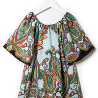 PAISLEY PRINTED TUNIC DRESS GIRLS
