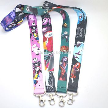 Free Shipping Nightmare Before Christmas JACK Lanyard Keys ID Cell Phone Neck Strap PCXB