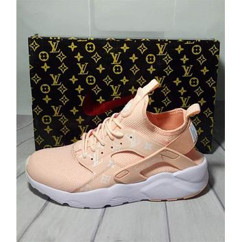 Nike x Supreme x Louis Vuitton Orange/White Air Huarache Fashion Luminous Shoes Sneake