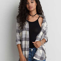AEO Ahhhmazingly Soft Boyfriend Shirt , Gray