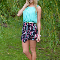 Diva At Heart Romper - Mint