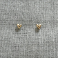 Make a wish gold plated tiny lucky heart earrings valentine