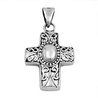 Sterling Silver Southwestern Cross Crucifix Religious pendant